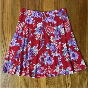 NEW Kimchi Blue Floral Mini Skirt Urban Outfitters